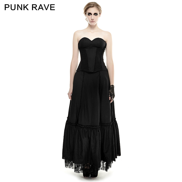 Vestido largo de tirantes negro