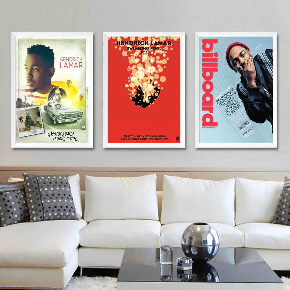 Kendrick Lamar Music Stars Art Poster Silk Light Canvas