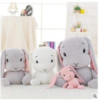 70cm/50CM/ 30CM Cute Rabbit Plush Toys Bunny Stuffed Soft  Cartoon Doll  For Children Baby Birthday Gift 38cm luxury mogo bunny doll easter gift soft toys 100% handmade stuffed animal ballerina bunny doll princess bunny doll