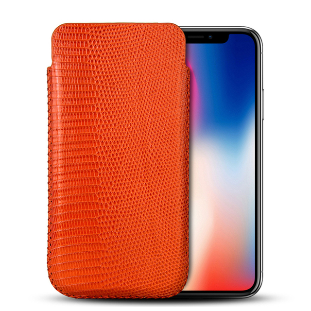 new concept d3f50 96c94 US $247.77 |For iPhone XS MAX Case Pouch Bag Luxury Genuine Lizard Skin  Leather Phone Case For iPhone X XS MAX XR Original Real Leather Case-in  Phone ...