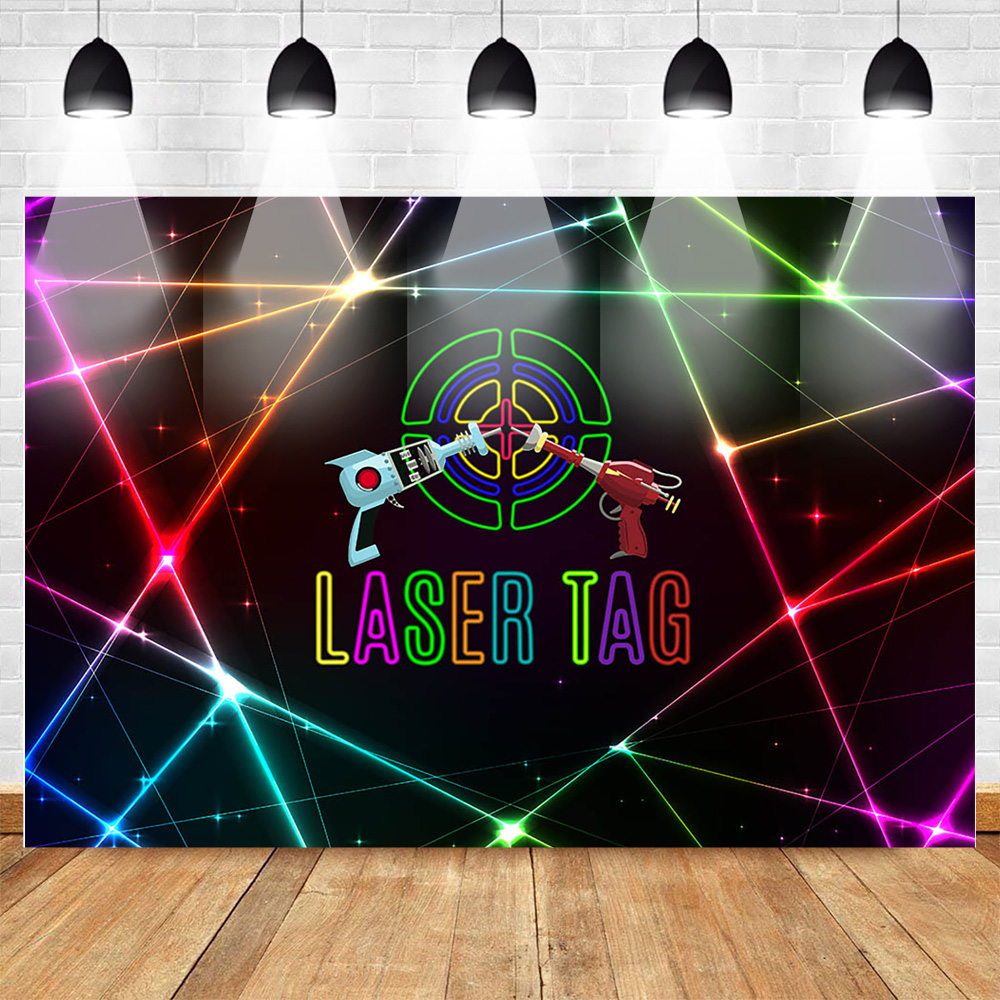 Fantastic Mehofoto Laser Tag Themed Backdrop For Photography Laser Gun Boy Funny Birthday Cards Online Inifofree Goldxyz