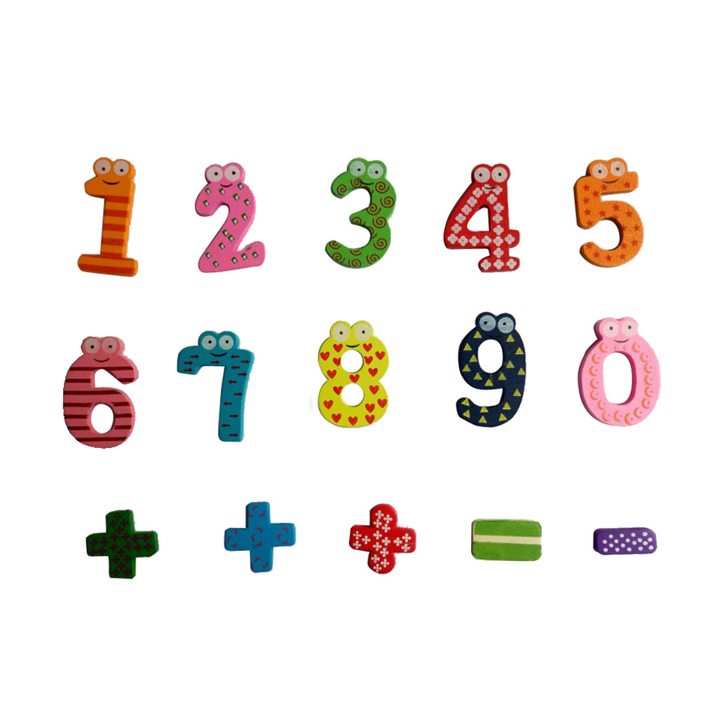 Cheapest Price!! Magnetic Wooden Numbers Math Sets Digital Baby Educational Toys Numeral Sign Refrigerator Dropshipping #20