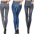 Sexy Новая Женщины Жан Тощий Полиэстер Jeggings Эластичный Тонкий Поножи Карандаш Брюки узкие джинсы женщина джинсы с Карманом