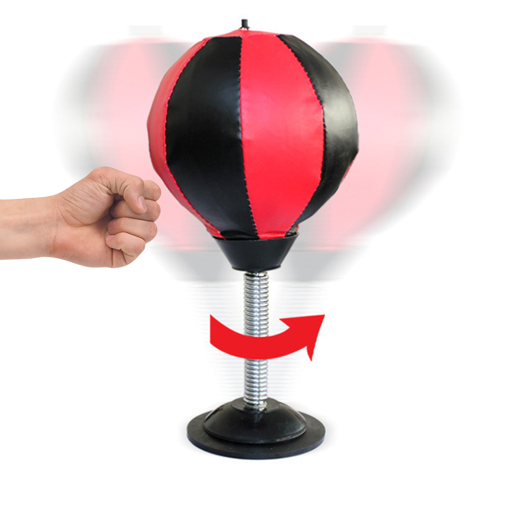 Desktop Punching Ball Suction Freestanding Reflex Speed Ball Boxing Bag Punching Pedestal Ball With Free Inflator Random color 1