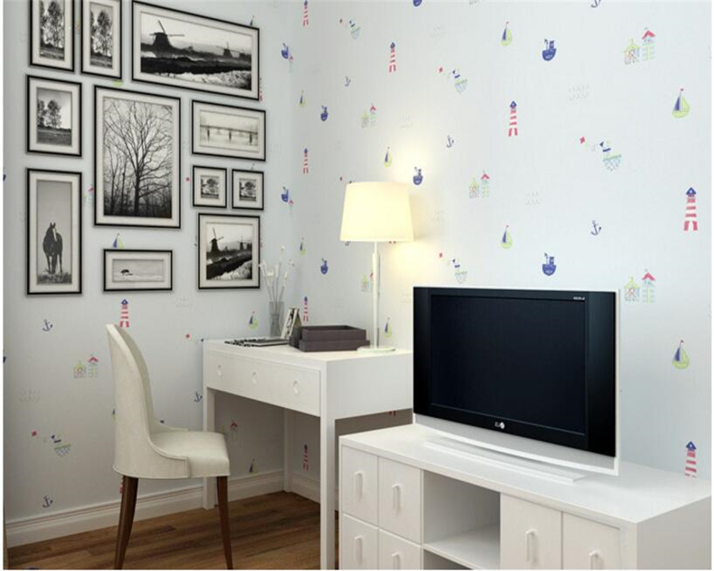 beibehang papel de parede Blue Cartoon Nonwovens 3d Wallpaper Green Kids Room Stereo Bedroom Boys Girl Background Walls tapety beibehang papel de parede england classic pink plaid wallpaper background wallpaper bedroom bedsidechildren s room girl