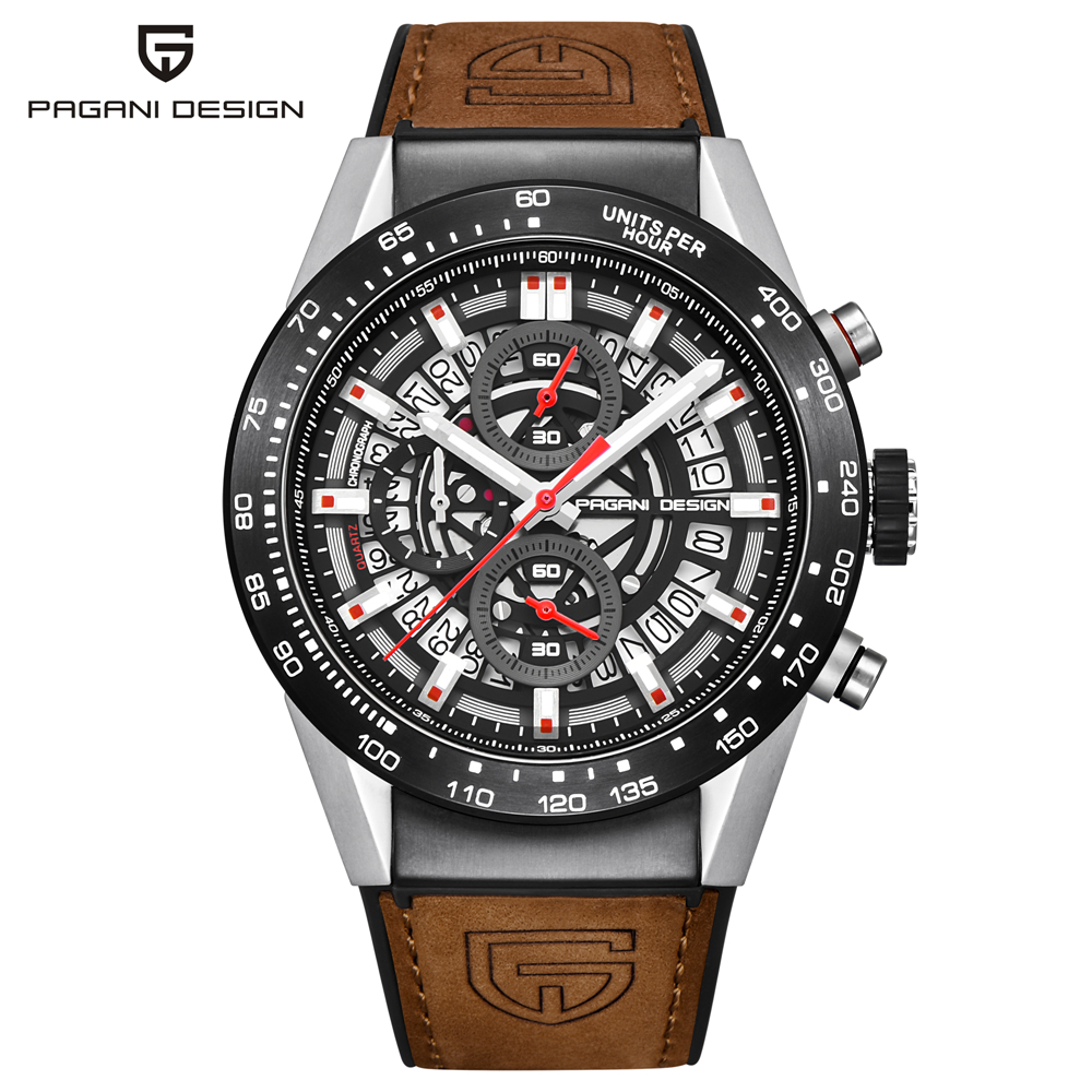 PAGANI DESIGN Brand Sport Watch Men Skeleton Military Chronograph Quartz Outdoor Watch Male Relogio Masculino erkek kol Saat