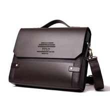 Leather Men's Brand Polo Briefcase High Quality Business Shoulder Bags Men Messenger Bags