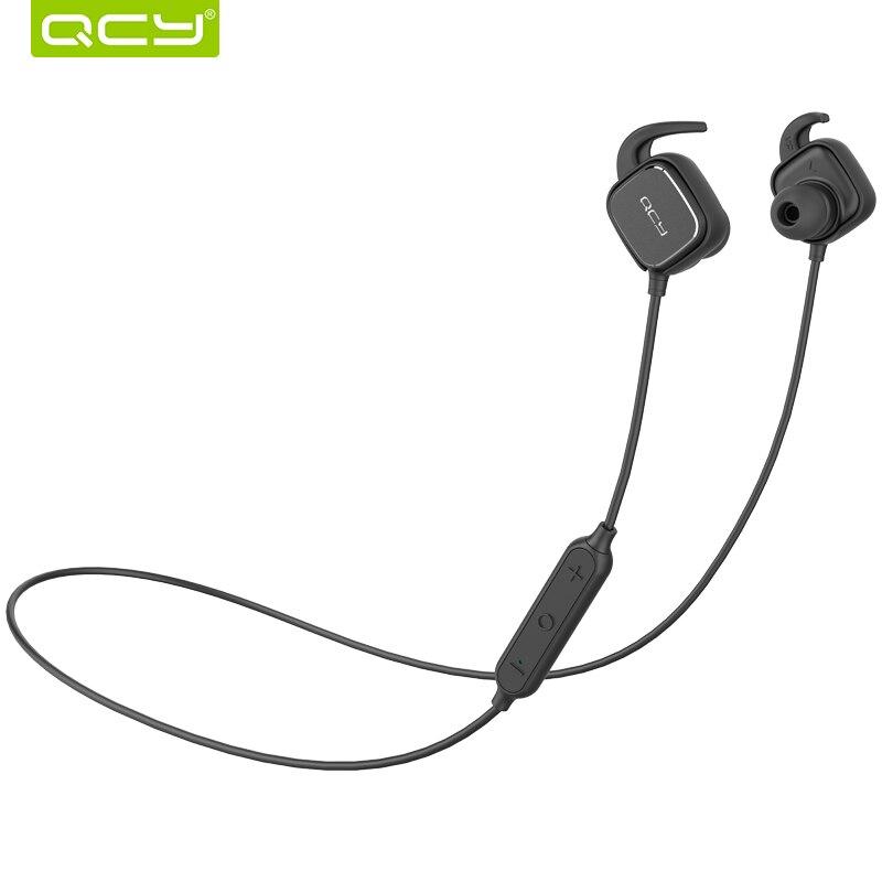 QCY conjunto QY12 Tecnología interruptor magnético bluetooth 4.1 inalámbrico deportes auriculares auriculares estéreo Sweatproof auricular con micrófono aptX HIFI para IOS iPhone 4 5 6 7 ipod ipad android samsung LG