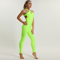 2018 Fitness Clothing Women's One pieces Sports Suit Set Workout Gym Fitness Jumpsuit Pants Sexy Yoga Set Bandage Gym Bodysuit