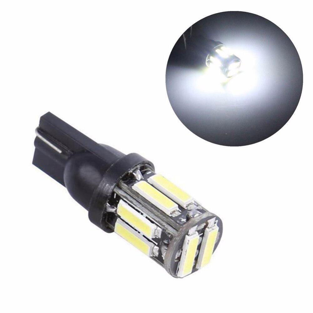 1 шт. W5W 10 7020 SMD Автомобильные светодиодные лампы T10 194 168 Замена клиновидного типа лампа обратной приборной панели белые лампы для габаритных ...