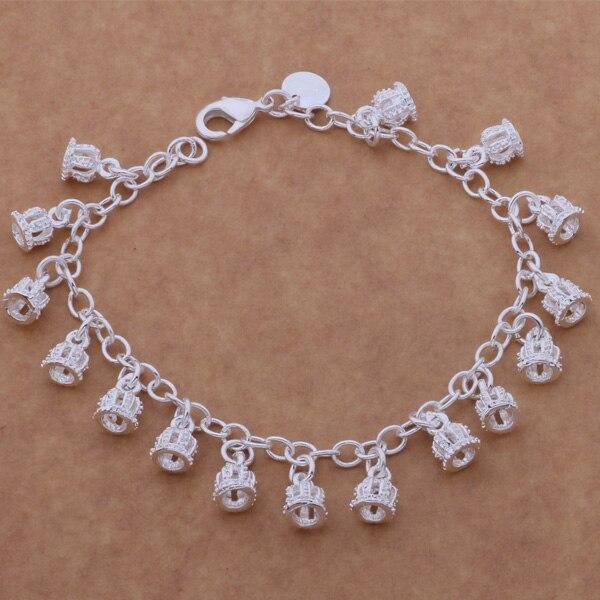 Bracelets & Bangles Shop For Cheap Ah139 Hot 925 Sterling Silver Bracelet 925 Sterling Silver Fashion Jewelry The Small Crown /amdajdka Bafajrma