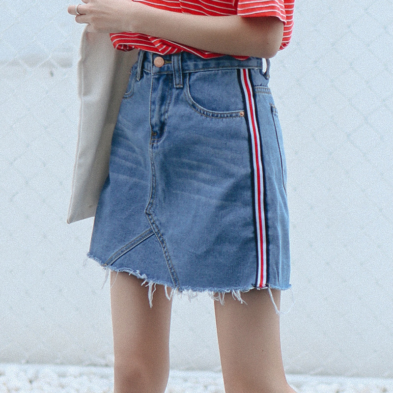 Online Get Cheap Striped Denim Skirt -Aliexpress.com | Alibaba Group