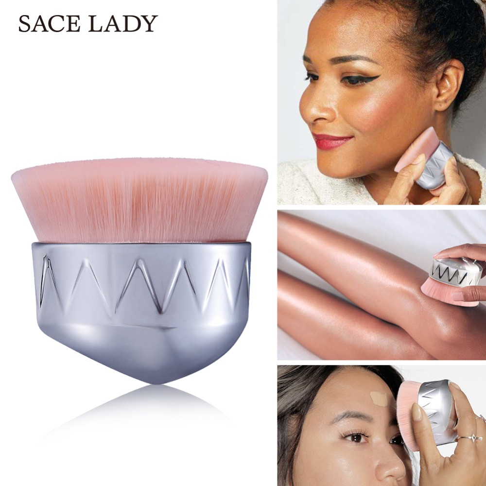 SACE LADY Professional Brush Makeup for Blush and Power Make Up Tool for Face and Body Highlighter Soft Brand Cosmetic цена