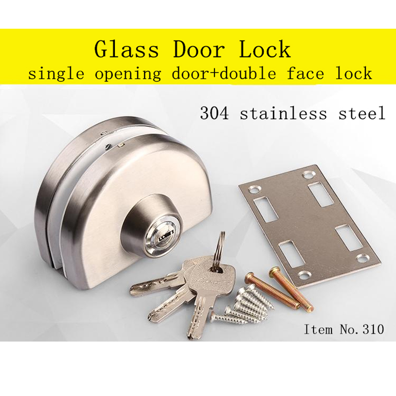 10-12MM THICKNESS 304SS GLASS DOOR LOCK SUIT FOR SINGLE OPENING DOOR DOUBLE FACE LOCK10-12MM THICKNESS 304SS GLASS DOOR LOCK SUIT FOR SINGLE OPENING DOOR DOUBLE FACE LOCK