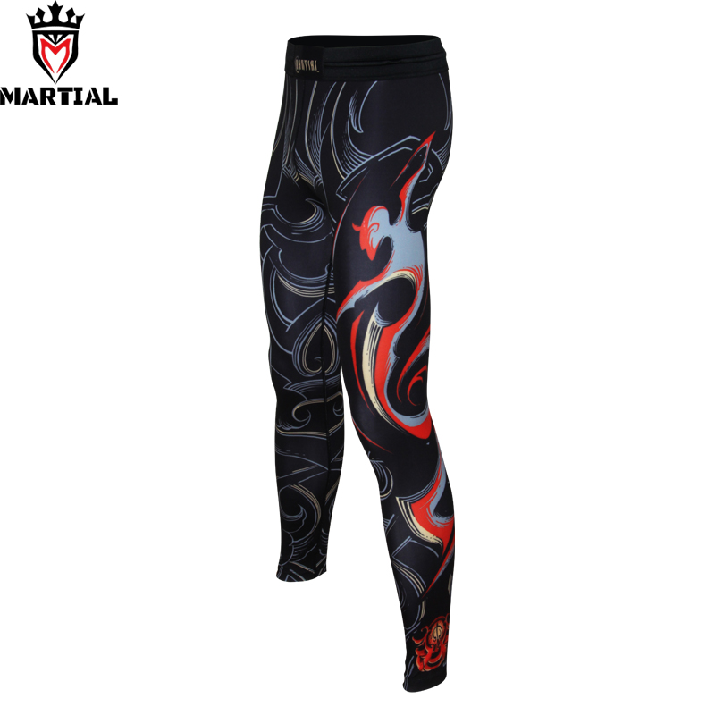 Free Shipping Martial: Sagittarius printed mma pants compression leggings fitness running pants athletic men sports spats