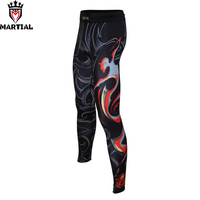 Free Shipping Martial Sagittarius Printed Mma Pants Compression Leggings Fitness Running Pants Athletic Men Sports Spats