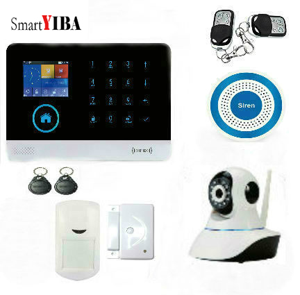 SmartYIBA 3G WCDMA Alarm System APP Remote Control RFID Card Wireless Home Security WIFI Burglar Alarm System Video IP Camera