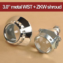 Updated Metal 3.0 Inches LEADER HID Bi-xenon Projector Lens LHD/RHD + ZKW Shroud for E46 Auto Headlight Retrofitting