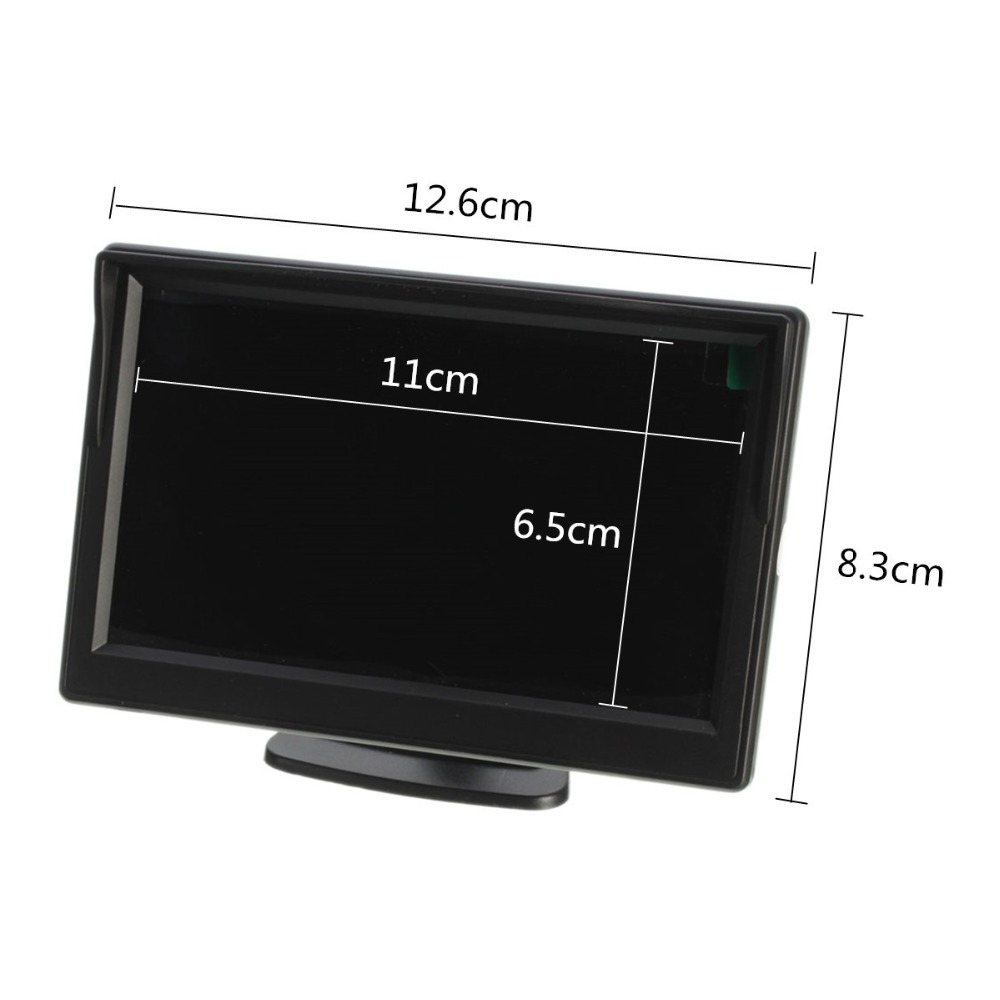 2018 Rear View Backup Reverse Camera Rearview Monitor Auto Parts 5 Inch Car Monitor with 2 Video Inputs Suppot DVD VCD Display
