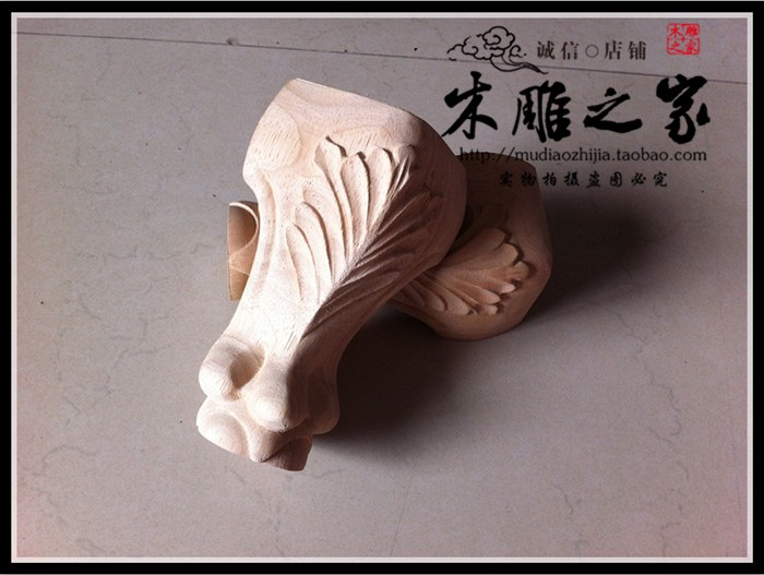 Dongyang Woodcarving European Legs Carved Furniture Foot Cabinet