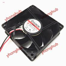 Free Shipping For SUNON ME80251VX-Q060-F99 DC 12V 1.9W 3-wire 3-pin connector 80x80x25mm Server Square Cooling Fan