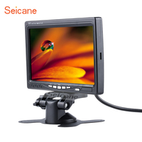 Seicane Universal 7 Inch HD TFT LCD Display Car Auto Parking Monitor Backup Rearview Camera Recoder
