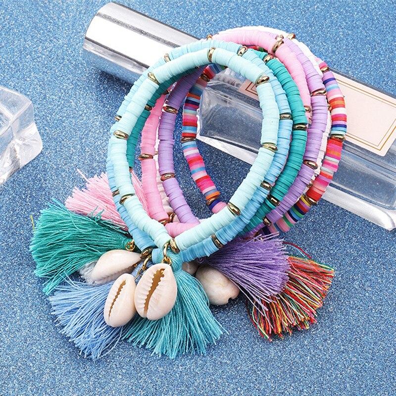 Multicolor Shell Tassel Bracelet 1