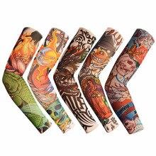 † 1 ШТ. Велоспорт Спортивные Татуировки Рукава Солнцезащитный Крем УФ-Блок Прохладный Рукава Рукава √