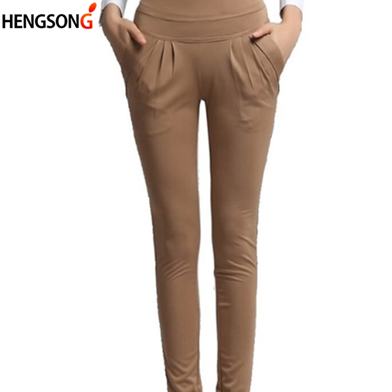 Casual Pencil Pant Women Spring Summer Autumn Nine Pants Trousers Office Laides Pant Slim Women's Pant With Pocket Ankle Length