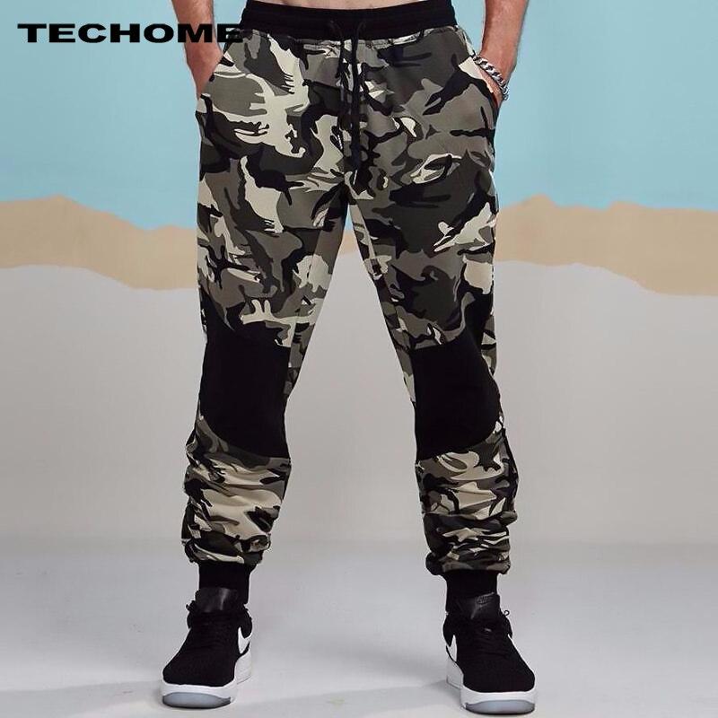 2018 New Mens Autumn Pencil Harem Pants Men Camouflage Military Pants Loose Comfortable Cargo Trousers Camo Sweatpants S-2XL