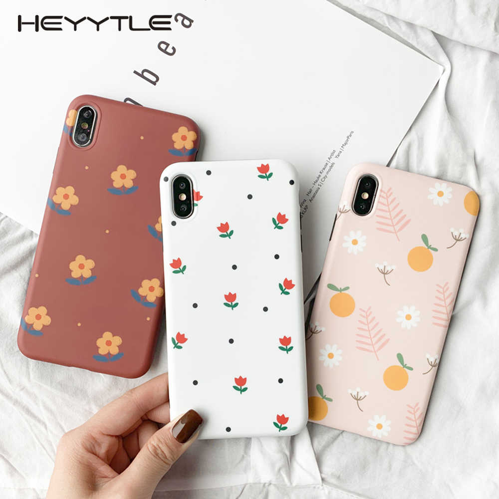 Heyytle Summer Flower Girl Case For iPhone 8 7 Plus 6 6S Ultra Thin Soft TPU Case Full Cover For iPhone X XS MAX XR 7Plus Coque