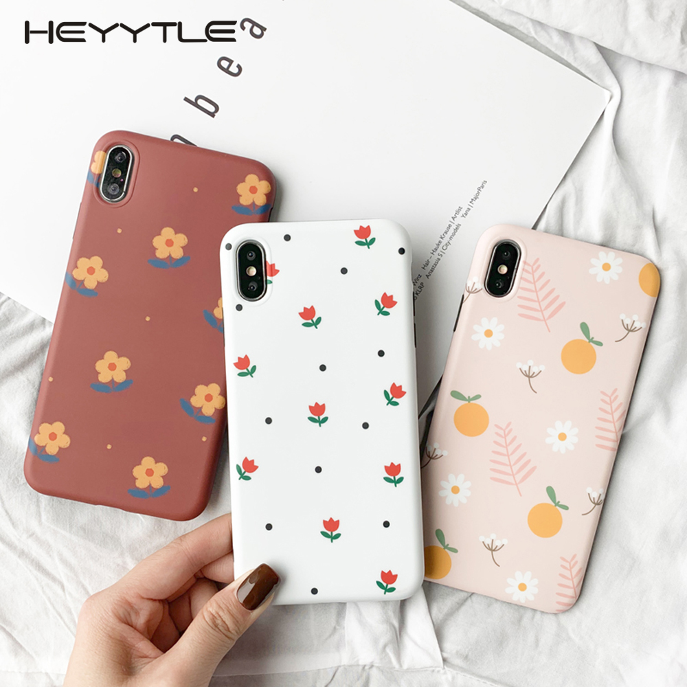 Heyytle Summer Flower Girl Case For iPhone 8 7 Plus 6 6S Ultra Thin Soft TPU Full Cover X XS MAX XR 7Plus Coque
