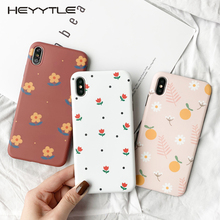 Heyytle Summer Flower Girl Case For iPhone 8 7 Plus 6 6S Ultra Thin Soft TPU Case Full Cover For iPhone X XS MAX XR 7Plus Coque rock ultra thin tpu soft case for iphone 7plus transparent black