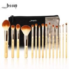 Jessup Brand 15 pcs Bamboo Professional Makeup Brushes brush