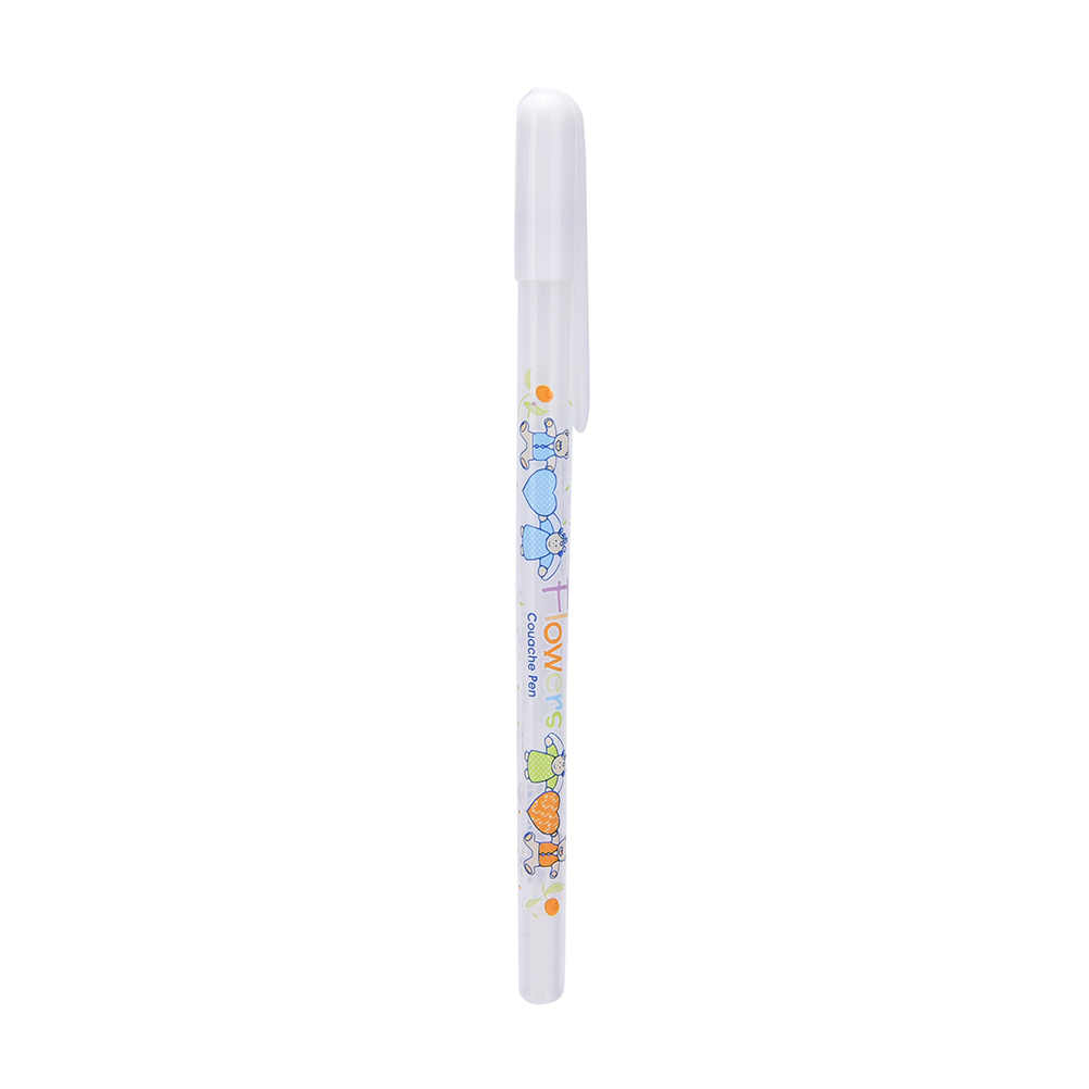 1 قطعة 0.8 مللي متر طابعة بحبر أبيض ألبوم صور هلام القلم مكتب التعلم لطيف للجنسين القلم الزفاف قلم هدية للأطفال الكتابة إمدادات القرطاسية