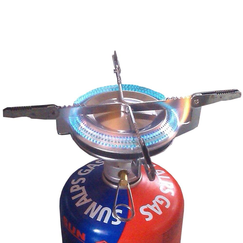 Přenosné venkovní Piknik Plynové hořáky Skládací Mini ocelové sporák Pouzdro pro venkovní Camping Cestování Pěší turistika BBQ