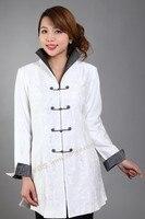 Белая китайский женский хлопок осень ветровка длинное пальто Femininos Casacos размер sml XL XXL XXXL M-23