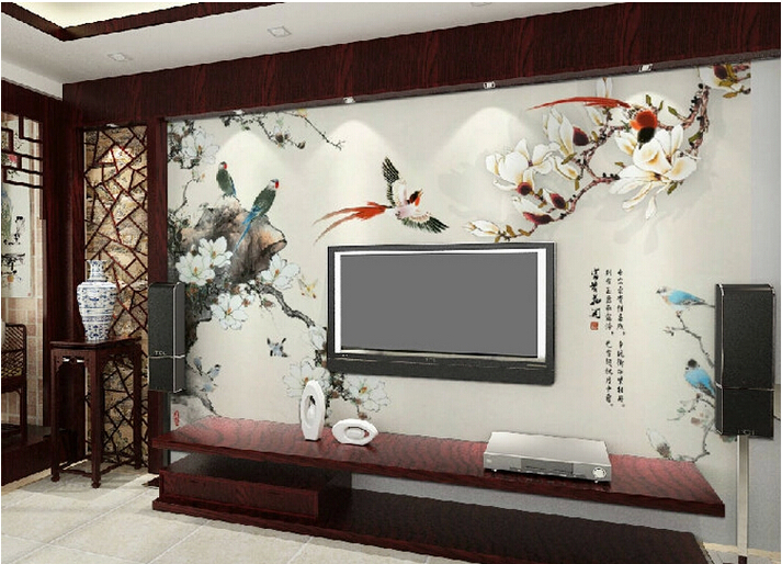 2015 New Arrival 3d Wallpaper Chinese Design Traditional Style For Tv Background Living Room Bedroom Home Decor Free Shipping In Wallpapers From