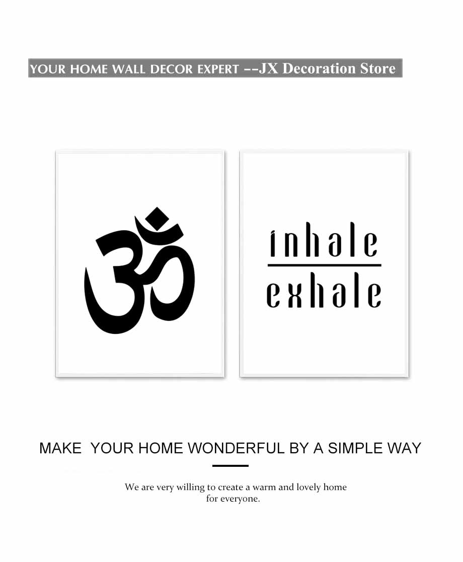 Inhale Exhale Yoga Meditation Modern Canvas Painting Wall Art Nordic Poster And Prints Modular Wall Picture For Bedroom Decorati (3)