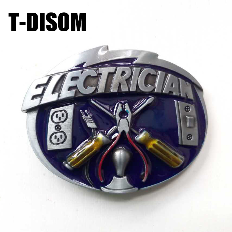 New Deisgn Electrician Belt Buckle Hot Sale Western Belt Buckles For Mens Accessories Sesuai Untuk 4cm Lebar Belt Drop penghantaran