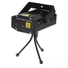 Mini LED R&G Laser Projector Stage Lighting Adjustment DJ Disco Party Club Black Or Blue Free Shipping