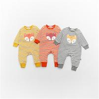 Baby Girl Boy Clothes 2018 Spring Autumn Baby Rompers Newborn Clothing Fox Images Infants Baby Jumpsuit