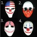 Горячая Хэллоуин страшный клоун Payday 2 Маска Косплей маскарадный реквизит Карнавальная маска Джокер Даллас волк Hoxton цепи фильм реквизит маска - фото