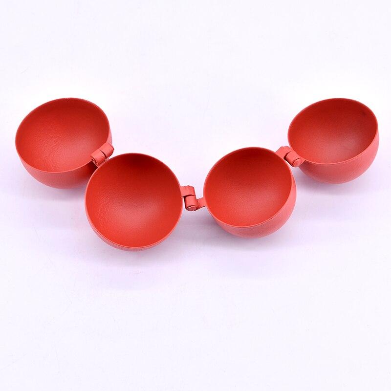 Multiplier les boules (métal, couleur rouge) une à quatre boules tours de magie pour les accessoires de Gimmick d'illusion de scène de magicien professionnel - 3