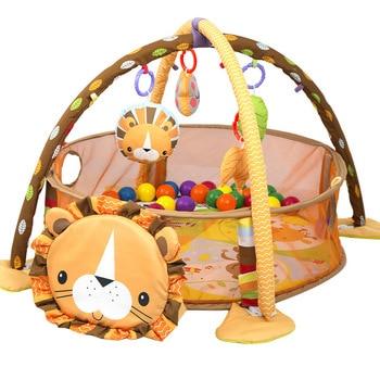 2f415cdc5 Los niños alfombra juguetes desarrollo León bebé alfombra de juego 0-1 año niños  alfombra gimnasio alfombra bebé gateando piso 3-en-1 juguete