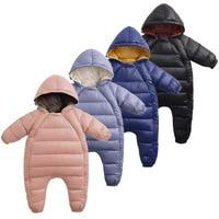 Toddler girl clothing warm casual jumpsuit russian winter children newborn baby romper kids coats boys jackets snowsuit infant