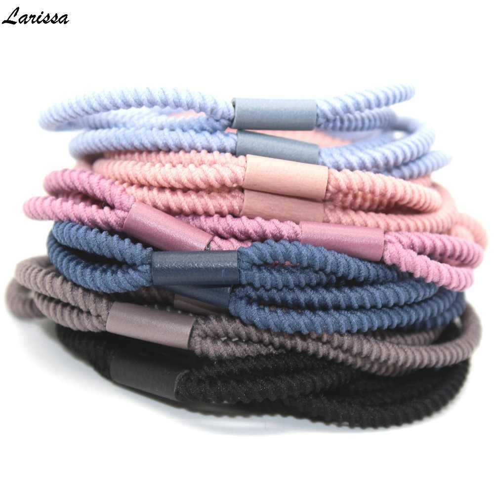 Larissa Stretch double strand hair rope gum ultra elastic hair bands tie rubber band girls hair accessories women headdress 5pcs