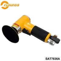 SAT7836A Hight Efficient 13000rpm Pad Size 2 3 Non Orbital Mini Air Sander Air Polish Tools