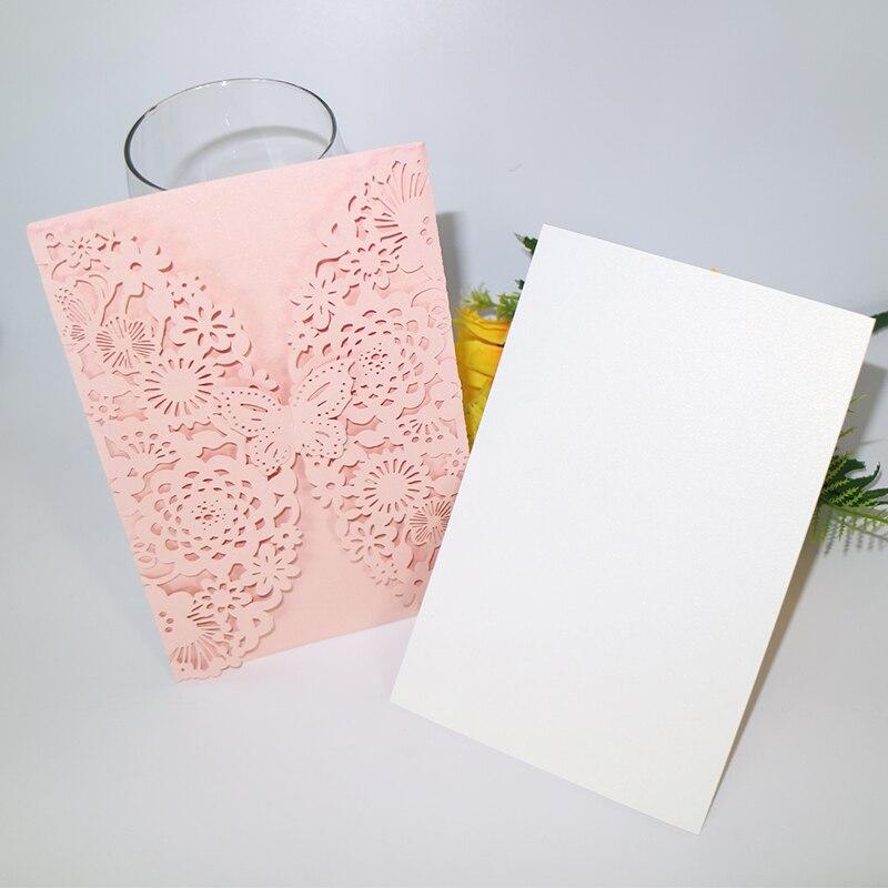 10pcs birthday happy postcard greeting card gift card blank paper laser cutting retro invitation card wedding decoration 5ZH28