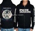 Imagine Dragons 100%Cotton Hot Sell 3D Rock Hoodies Autumn winter brand jacket coat shirt Skull punk death dark metal Tiger